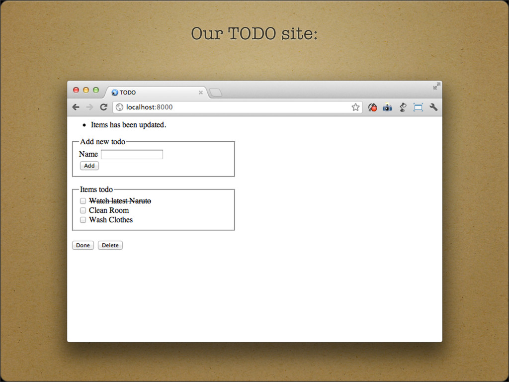 Our TODO site: