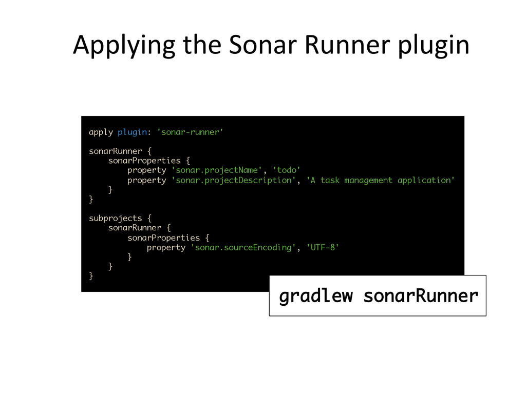 Applying	