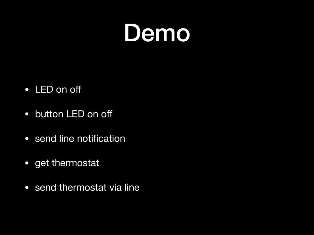 Demo • LED on off  • button LED on off  • send li...