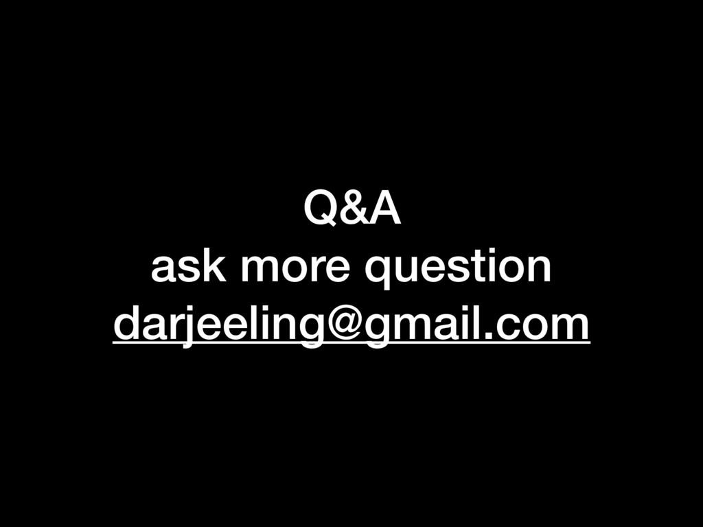 Q&A ask more question darjeeling@gmail.com