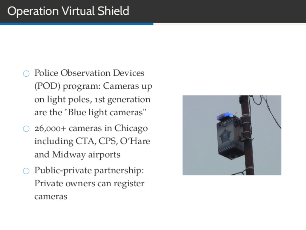 Operation Virtual Shield Police Observation Dev...