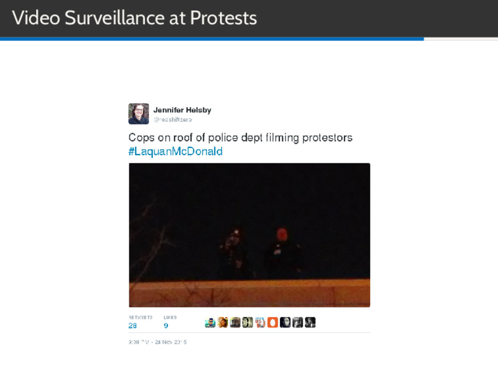 Video Surveillance at Protests