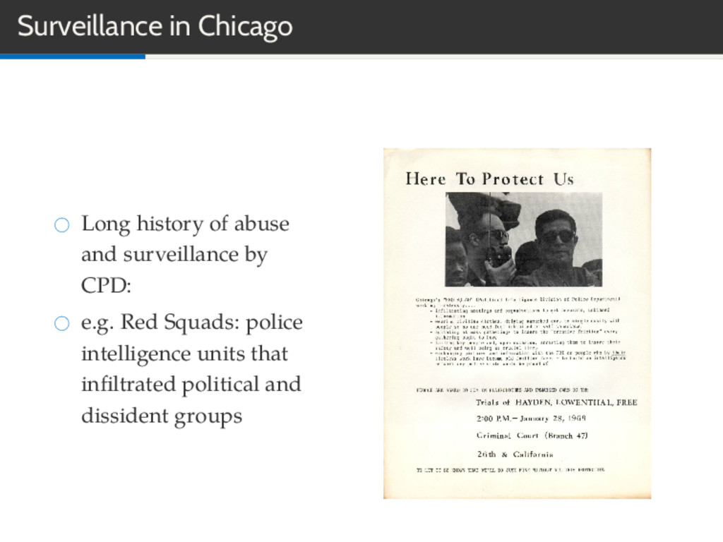 Surveillance in Chicago Long history of abuse a...