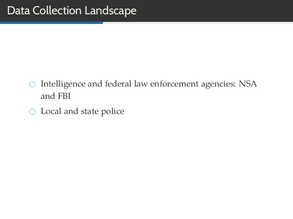 Data Collection Landscape Intelligence and fede...