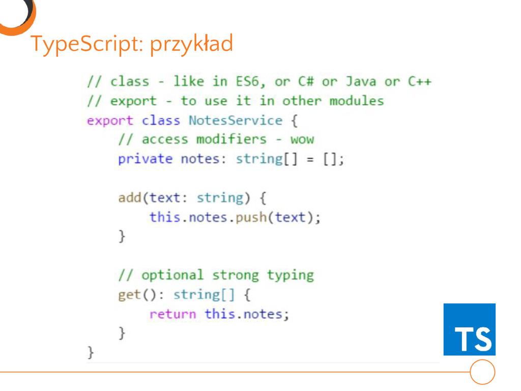 TypeScript: przykład