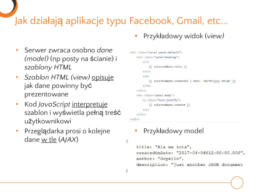 Jak działają aplikacje typu Facebook, Gmail, et...