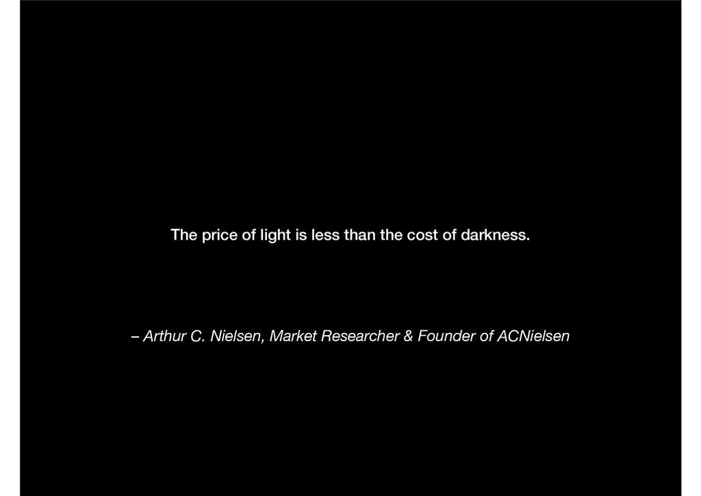 – Arthur C. Nielsen, Market Researcher & Founde...