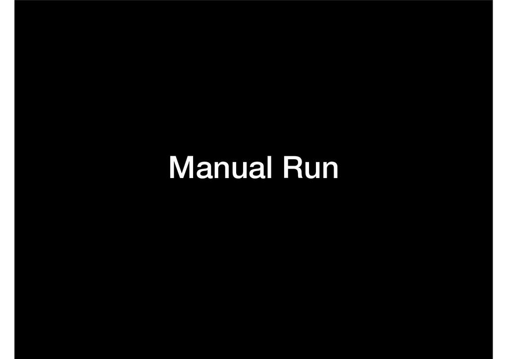 Manual Run