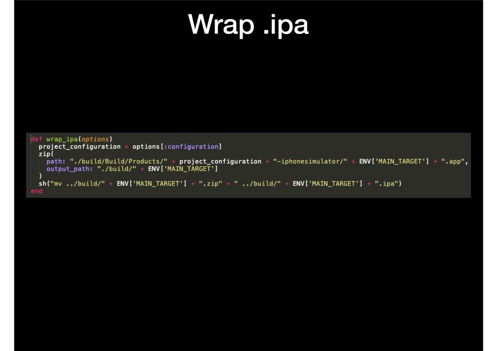 Wrap .ipa