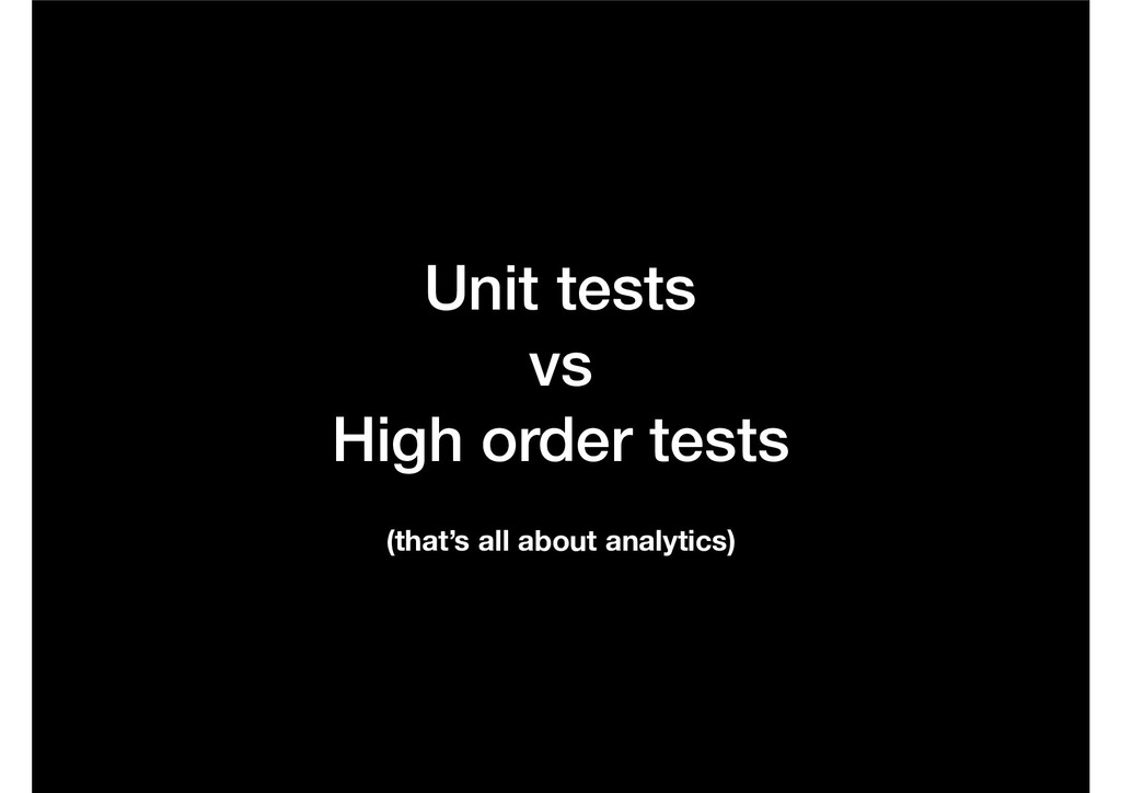 Unit tests 