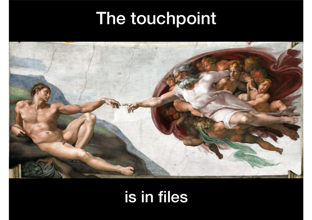 The touchpoint is in files