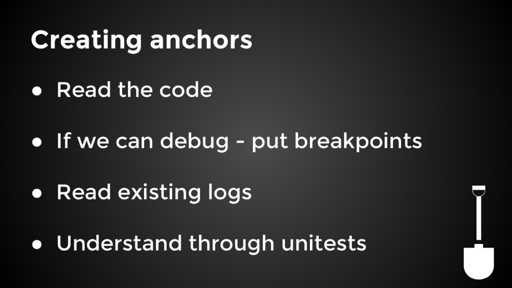 Creating anchors ● Read the code ● If we can de...