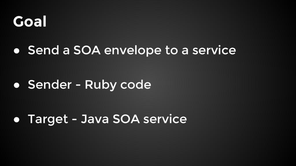 Goal ● Send a SOA envelope to a service ● Sende...
