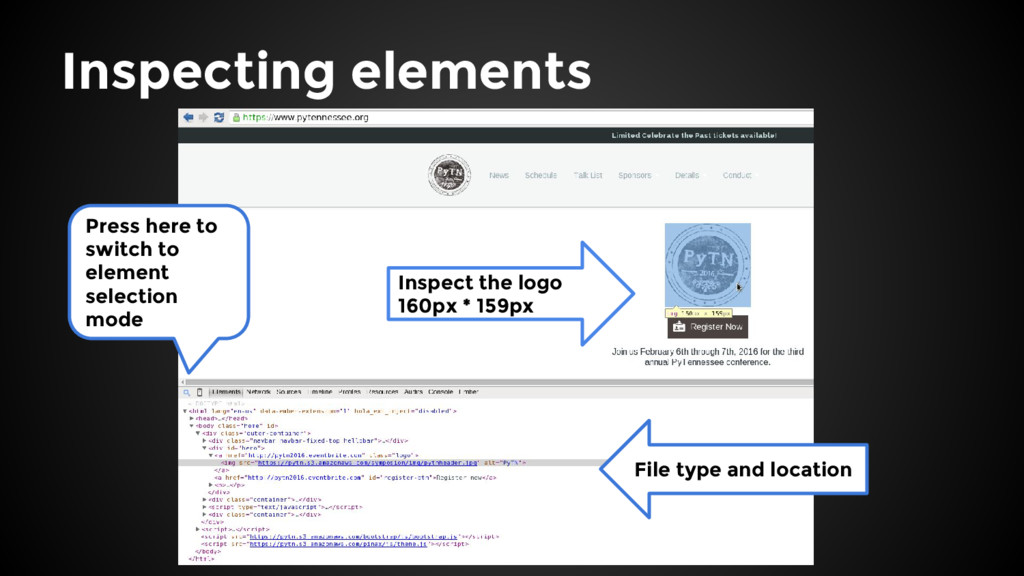 Inspect the logo 160px * 159px File type and lo...