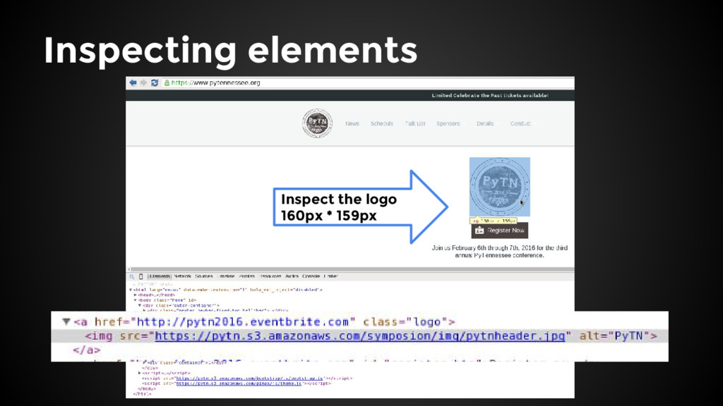 Inspect the logo 160px * 159px Inspecting eleme...