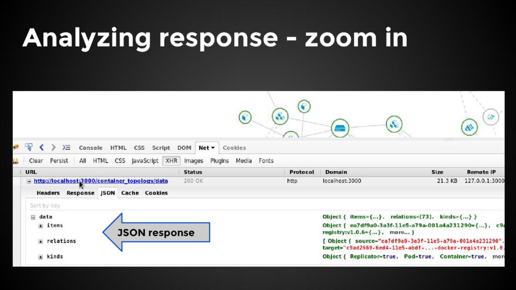 Analyzing response - zoom in JSON response