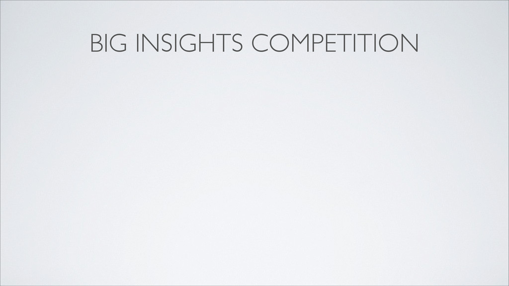 BIG INSIGHTS COMPETITION