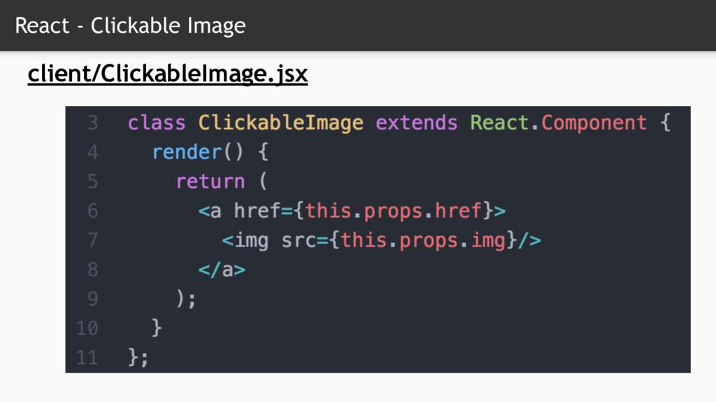 React - Clickable Image client/ClickableImage.j...
