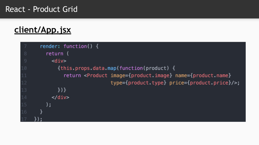 React - Product Grid client/App.jsx
