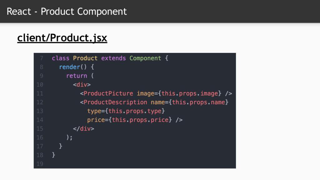 React - Product Component client/Product.jsx