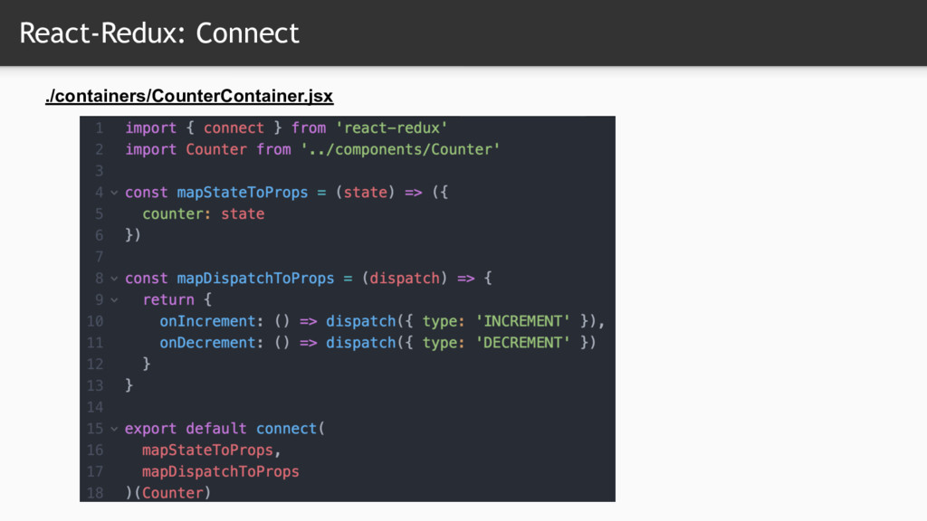 React-Redux: Connect ./containers/CounterContai...