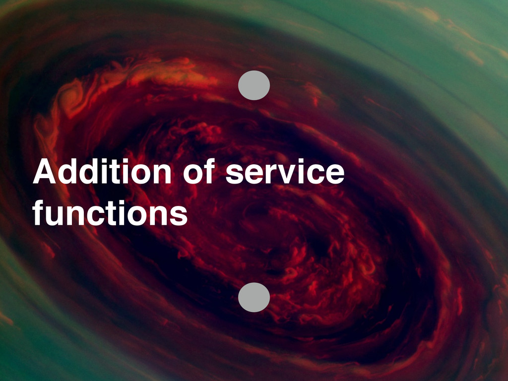 Addition of service ! functions