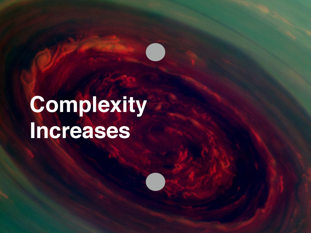 Complexity! Increases