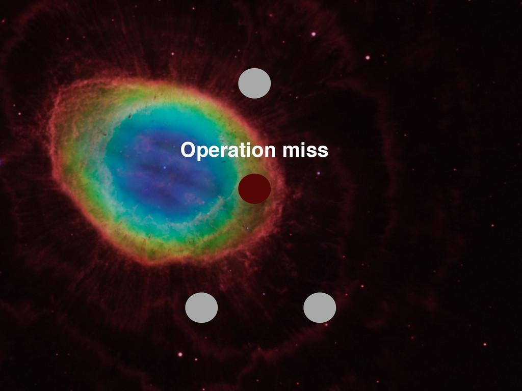 Operation miss