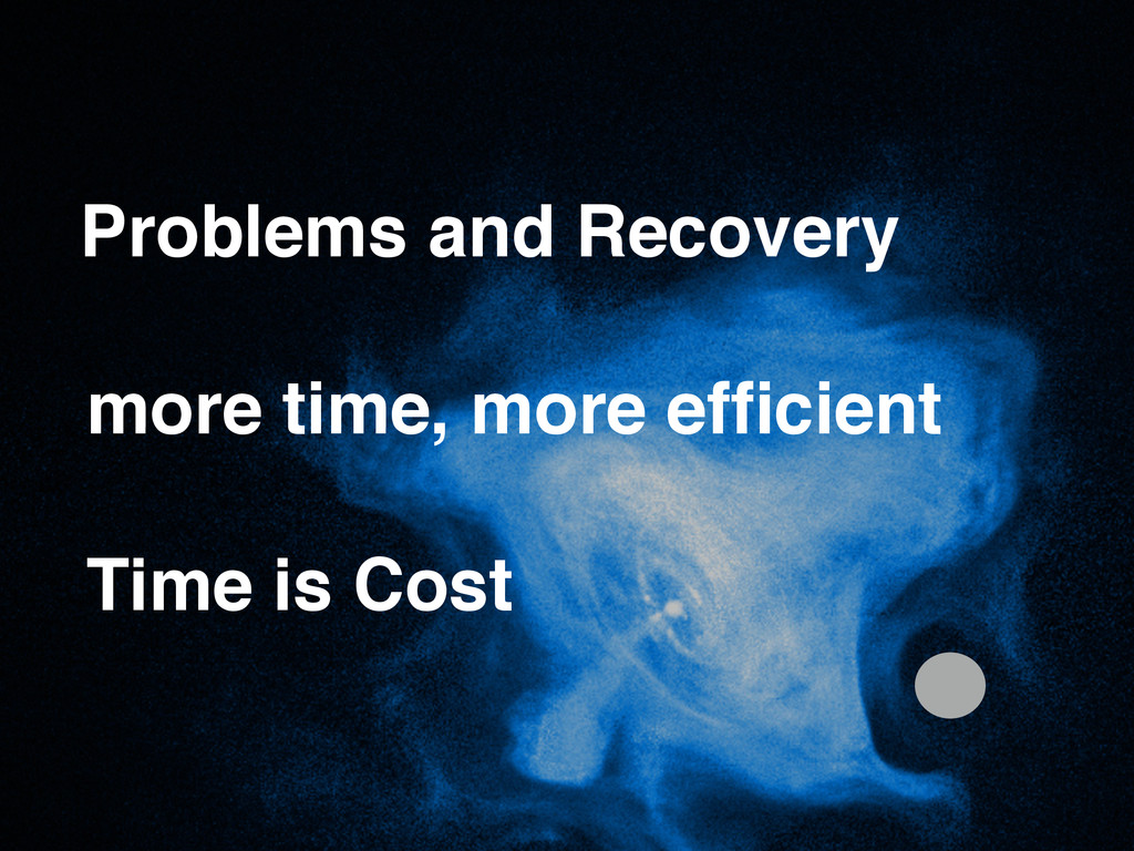 Time is Cost Problems and Recovery more time, m...