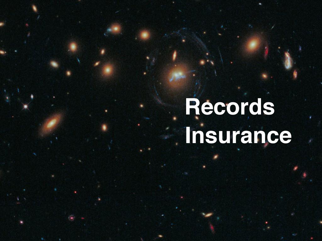 Insurance Records