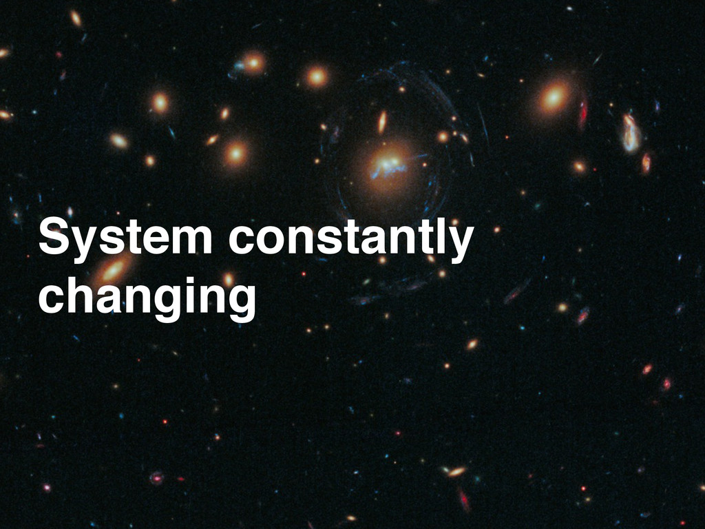 System constantly! changing