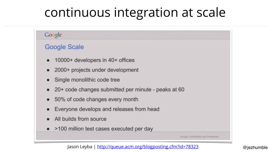 @jezhumble continuous integration at scale Jaso...