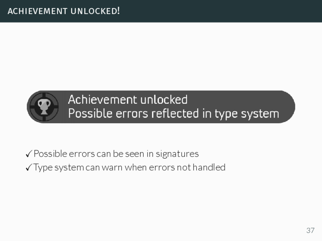 achievement unlocked! Possible errors can be se...