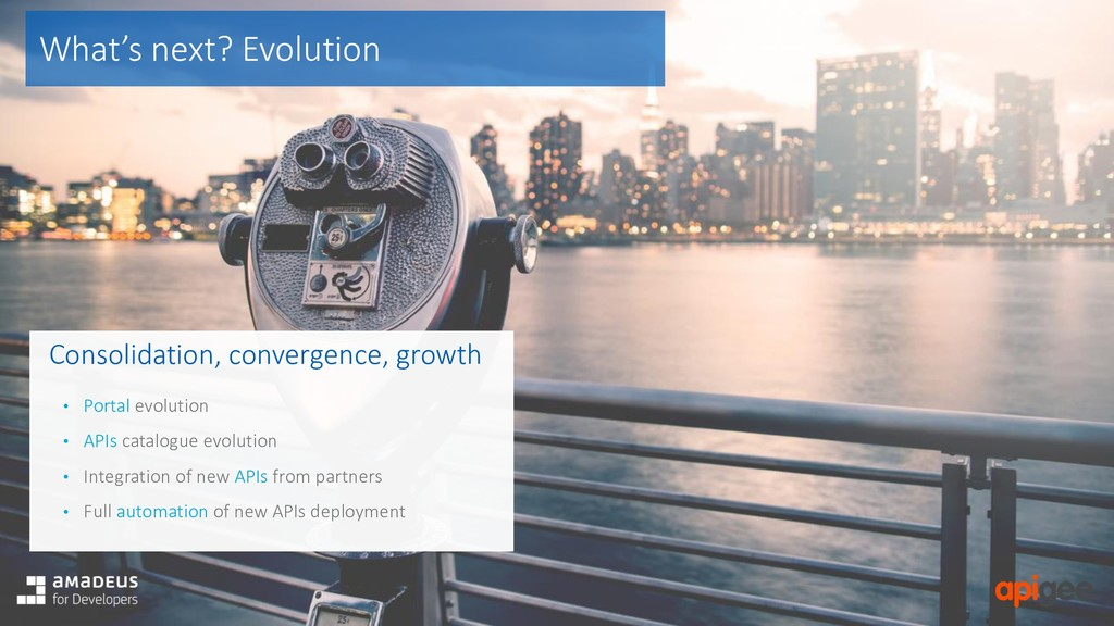 What's next? Evolution Consolidation, convergen...