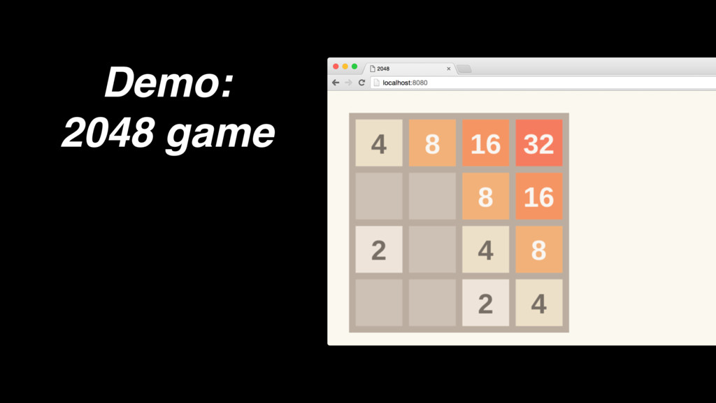 Demo: 2048 game
