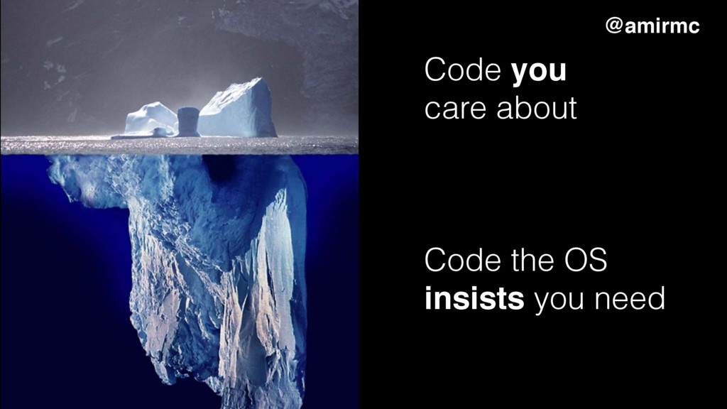 Code you care about Code the OS insists you nee...