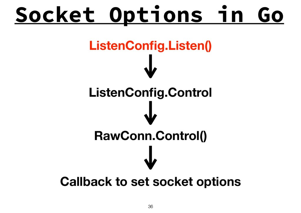Socket Options in Go !36 ListenConfig.Listen() L...