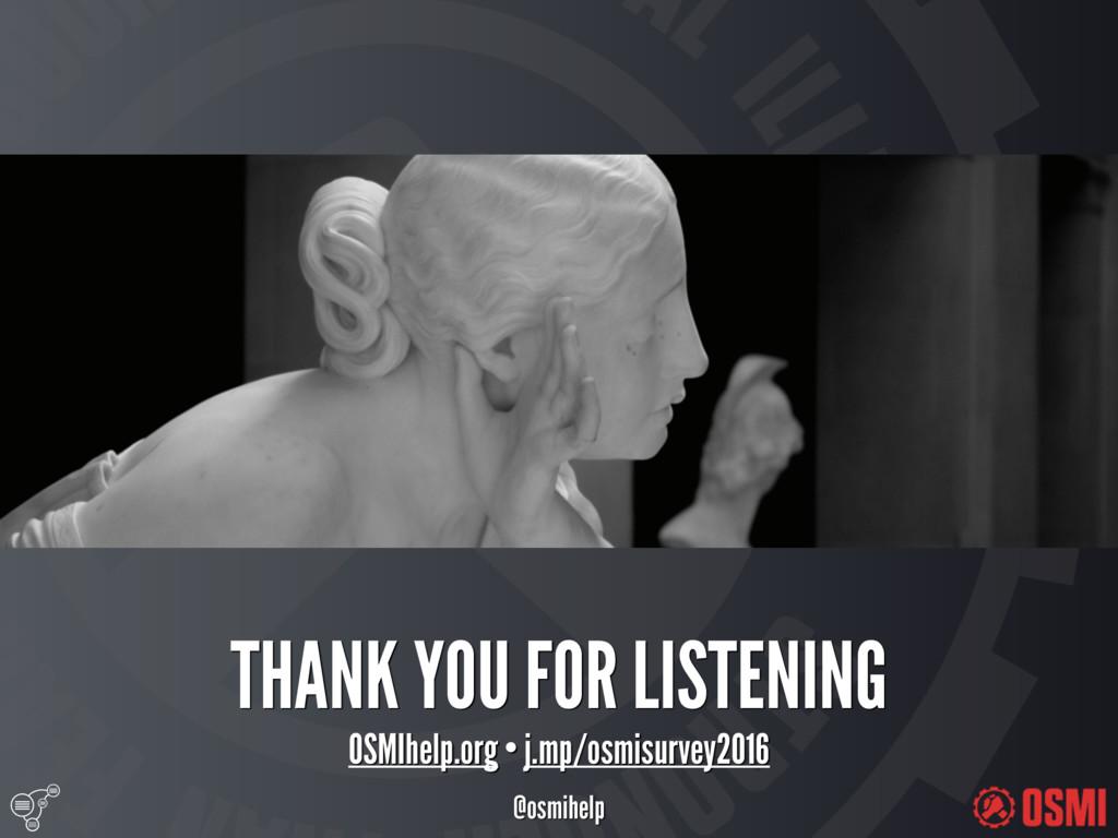 @osmihelp THANK YOU FOR LISTENING OSMIhelp.or...