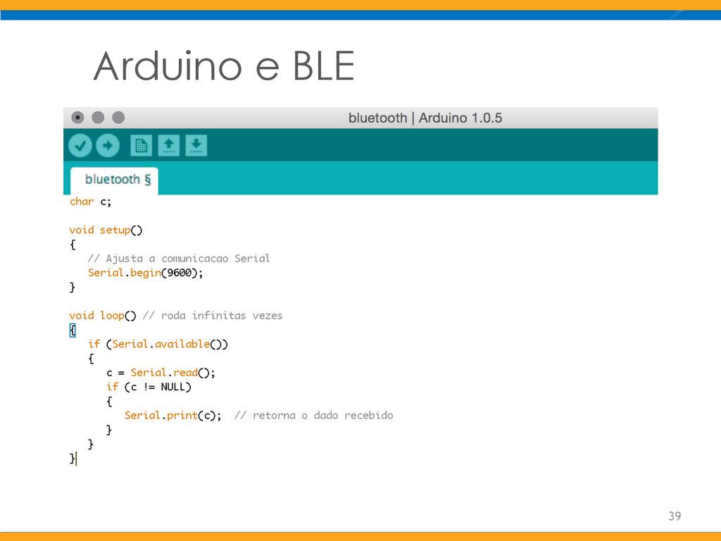 Arduino e BLE 39