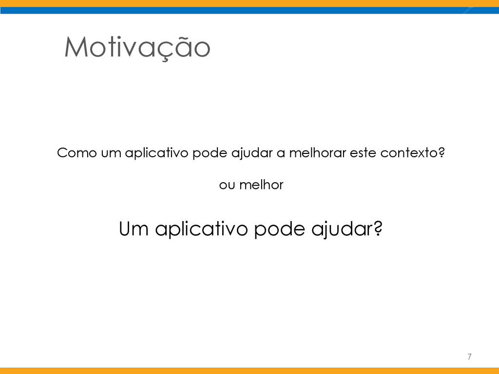 Motivação Como um aplicativo pode ajudar a melh...