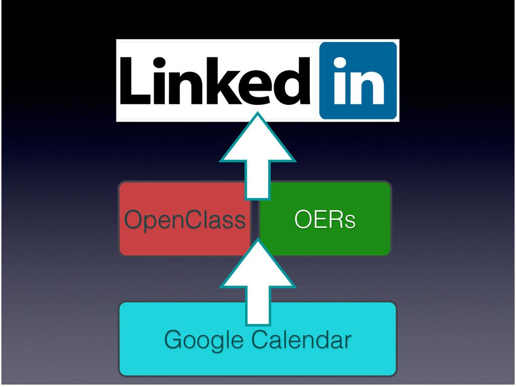 OERs OpenClass Google Calendar