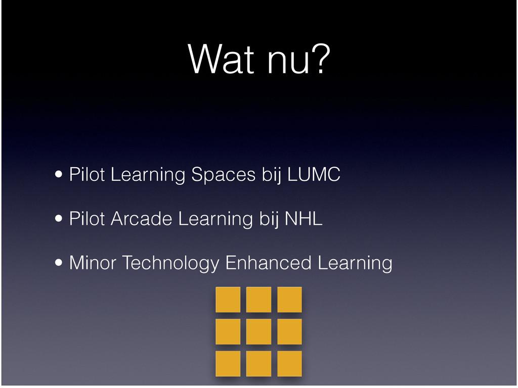 Wat nu? • Pilot Learning Spaces bij LUMC  • Pi...