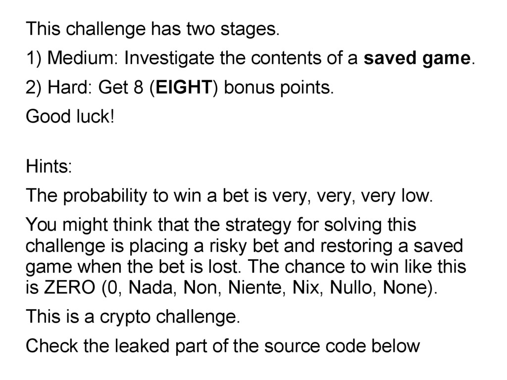 This challenge has two stages. 1) Medium: Inves...