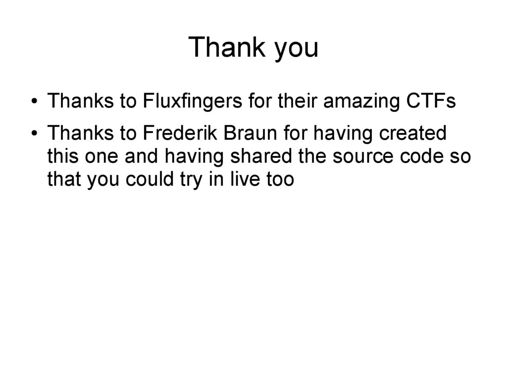 Thank you ● Thanks to Fluxfingers for their ama...