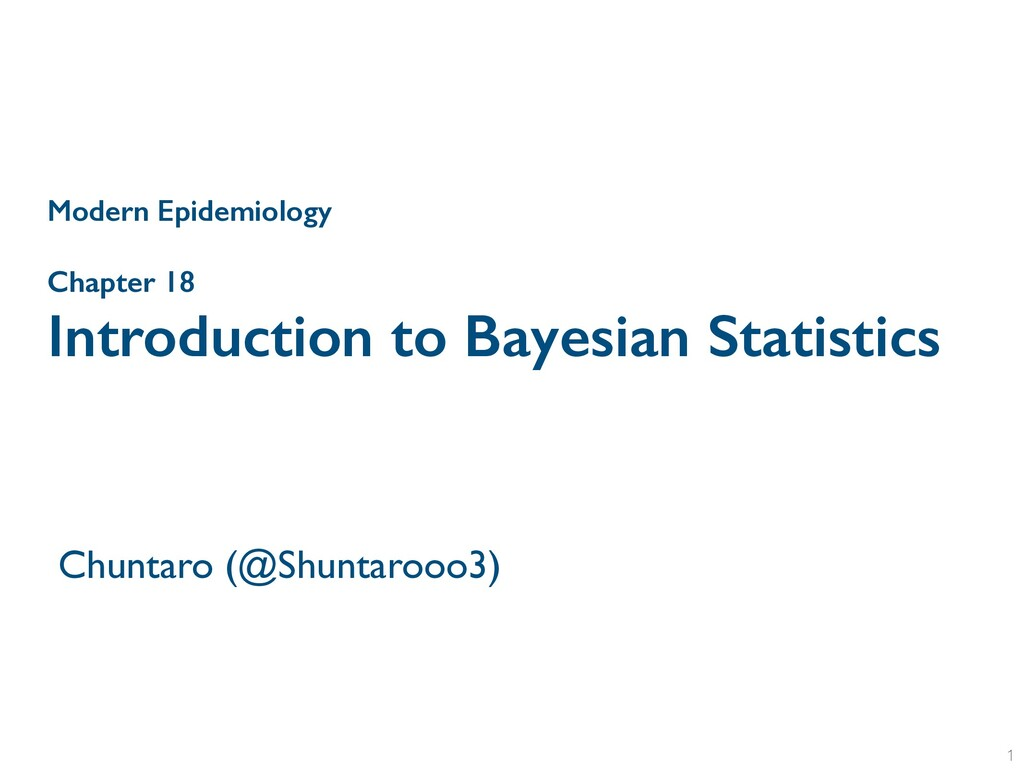 Chapter 18 Introduction to Bayesian Statistics ...