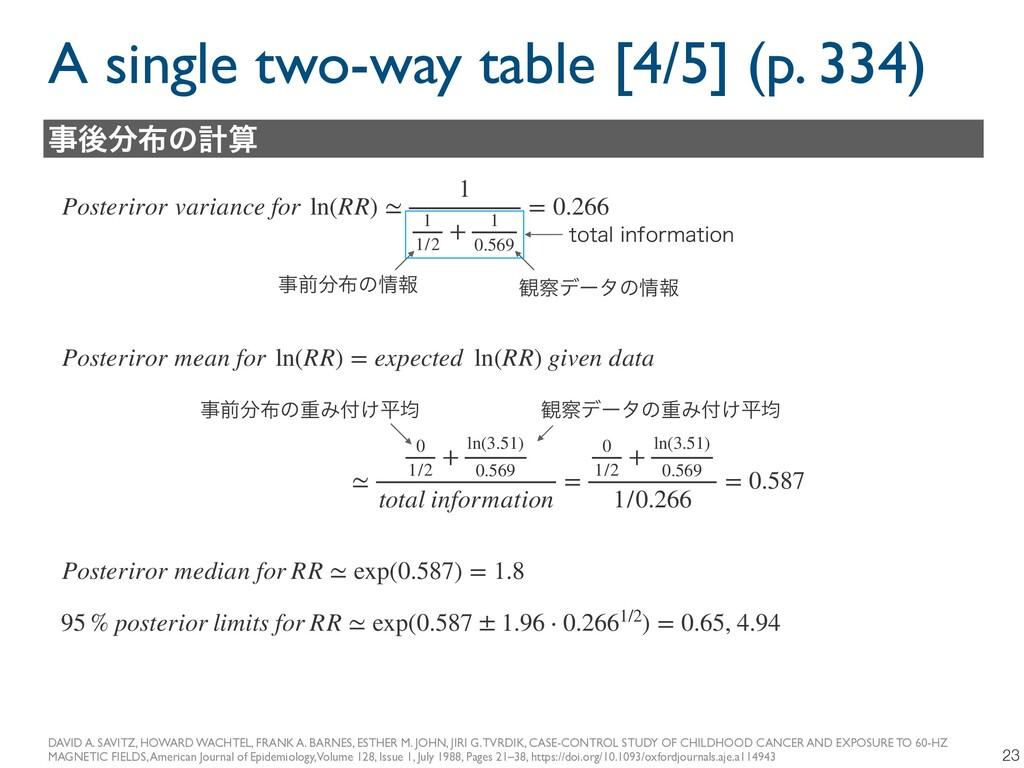 A single two-way table [4/5] (p. 334) 23 DAVID ...