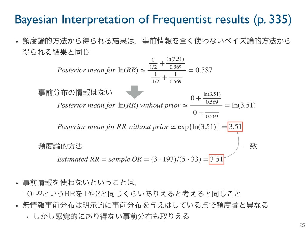 Bayesian Interpretation of Frequentist results ...