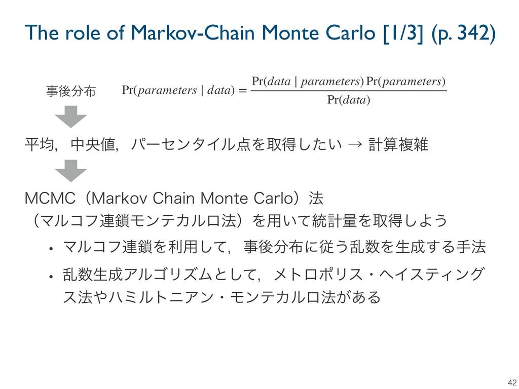 The role of Markov-Chain Monte Carlo [1/3] (p. ...