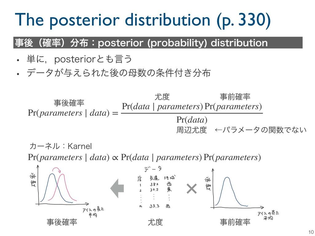 The posterior distribution (p. 330) 10 ޙʢ֬ʣ...