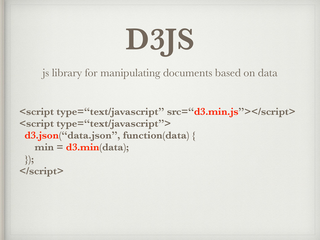 D3JS js library for manipulating documents base...